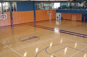 Photo of indoor basketball court